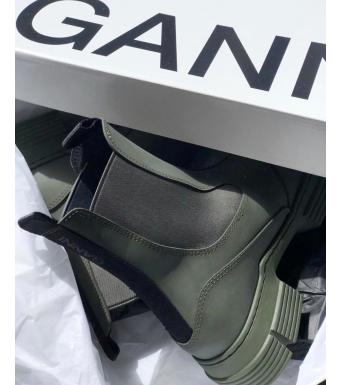 Ganni S1526 City Boot Recycled Rubber, 861 Kalamata
