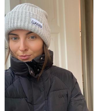 Ganni A3536 Hat Rib Knit Acc, Paloma Melange