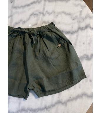 Tiffany Ella Shorts Linen, Army
