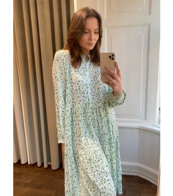 Noella Lipe Dress Viscose, Green Flower