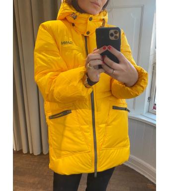 Ganni F6450 Puffer Jacket Tech Puffer, 313 Spectra Yellow