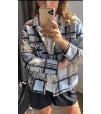 Tiffany By3278 Jacket Wool, Light Blue/black