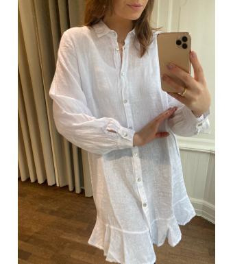 Tiffany Zoe Dress Linen, White