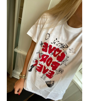 Ganni T2869 T-shirt Basic Cotton Jersey, Bright White