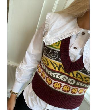 Ganni K1556 Vest Wool Mix Knit, Multicolor