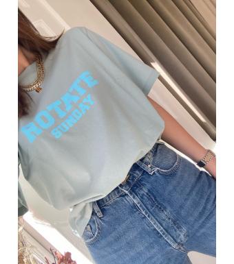 Rotate Sunday Aster T-shirt, Blue Surf