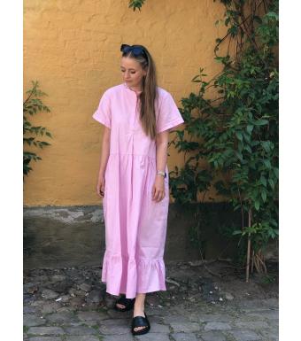 Tiffany 06020 Ella Long Dress Cotton Poplin, Pink Lavender