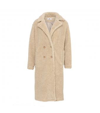 Tiffany Ferd Coat Teddy Fur, Light Natur