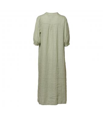 Tiffany Ebbi Long Dress Linen, Light Army