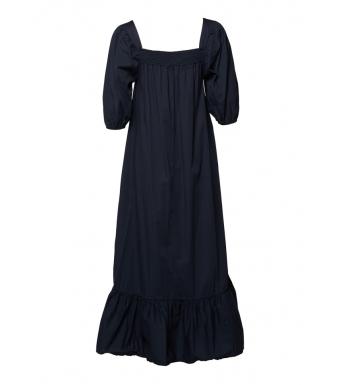 Tiffany Bella Dress Cotton Poplin, Blue Navy
