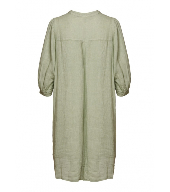 Tiffany Ebbi Short Dress Linen, Light Army