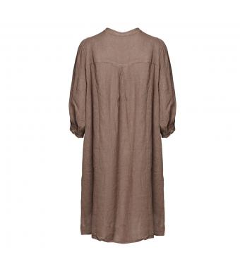 Tiffany Ebbi Short Dress Linen, Nougat