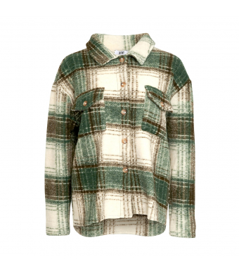 Tiffany By3278 Jacket Wool, Green/Off White