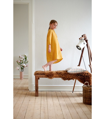 Tiffany 17690 Mini Long Shirt Linen, Senape Yellow