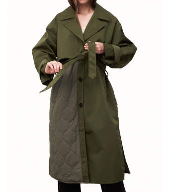 Meotine Safio Coat, Moss Green