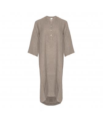 Tiffany 18970 Long Shirt Dress Linen, Nougat
