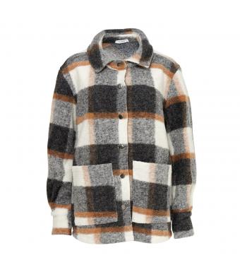 Noella Viksa Jacket Wool, Grey/camel Checks