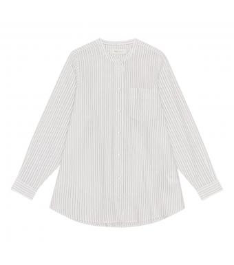 Skall Studio Maggie Shirt Stripe, White/grey Stripe