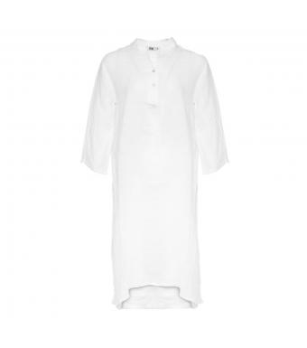 Tiffany 18970 Shirt Dress Linen, White