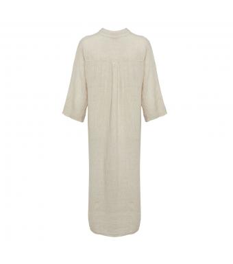 Tiffany 18970 Long Shirt Dress Linen, Light Beige