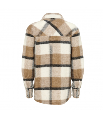 Noella Viksa Jacket Wool, Camel/black Checks