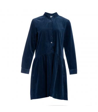 Tiffany 191222 Short Dress Small Ribbed Corduroy, Blue Navy