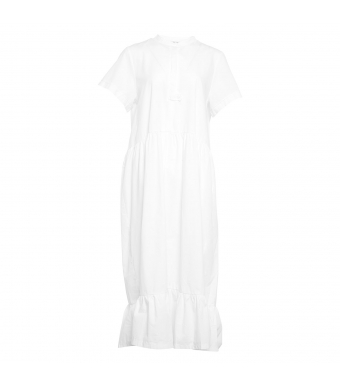 Tiffany 06020 Ella Long Dress Cotton Poplin, Bright White