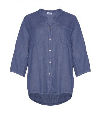 Tiffany 18973 Shirt Linen, Denim Blue