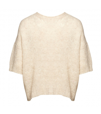 Noella Kala Knit Short Sleeve Wool, Oatmeal