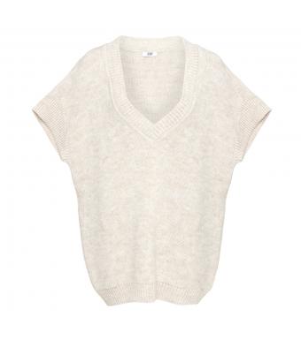 Tiffany Zenia Slipover Knit, Beige
