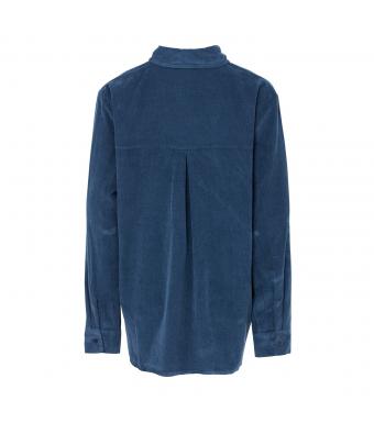 Tiffany 20a279 Shirt Small Ribbed Corduroy, Blue Navy