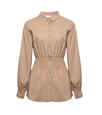 Noella Day Shirt Cotton Poplin, Camel