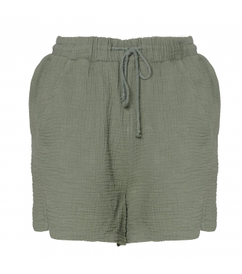 Tiffany Luna Shorts Double Cotton, Army