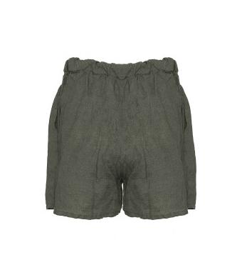 Tiffany 17691 Shorts Linen, Dark Army