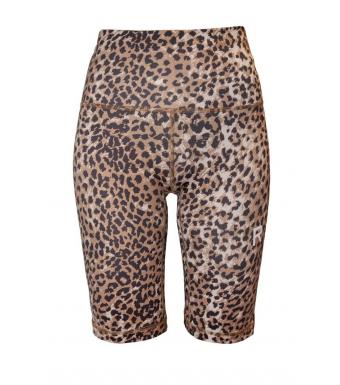 Ragdoll Workout Biker Short, Brown Leopard