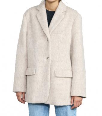 Meotine Emily Blazer Jacket Mohair, Beige