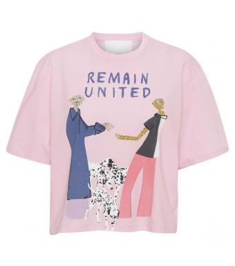 Remain Rosan T-shirt 100% Organic Cotton, Pink Lavender Comb