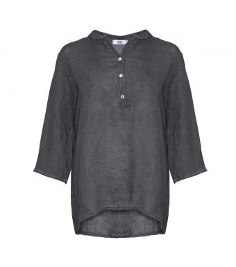 Tiffany hørskjorte mørkegrå