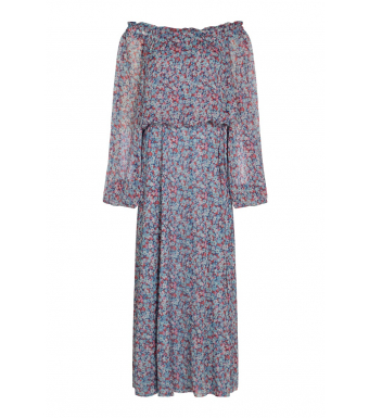 Rotate Carly Long Dress Rt362, Antigua Sand Comb