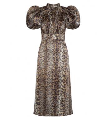 Rotate Dawn Dress, Dijon Comb.
