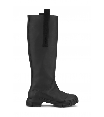 Ganni Country Boot Recycled Rubber S1527, Black