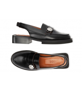 Ganni S1516 Loafers Brush Off, 099 Black