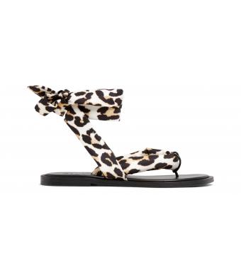 Ganni S1558 Sandal Recycled Tech Fabric, 943 Leopard