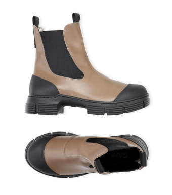 Ganni S1594 City Boot Recycled Rubber, Fossil