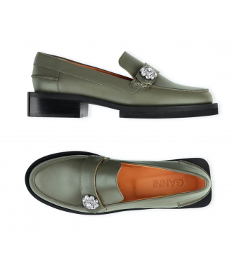 Ganni S1607 Mocassin Calf Leather, Kalamata