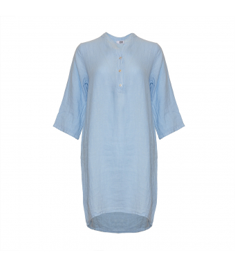 Tiffany 17690 Long Shirt Linen, Light Blue