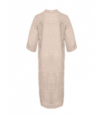 Tiffany 18970 Long Shirt Dress Linen, Rose
