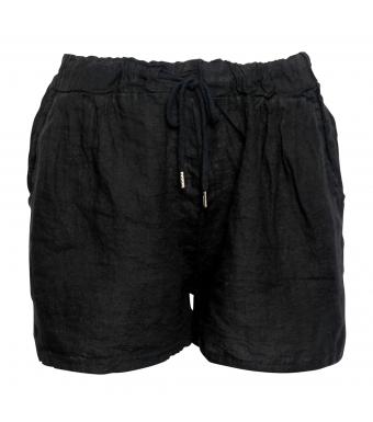 Tiffany Shorts Linen 17691, Black