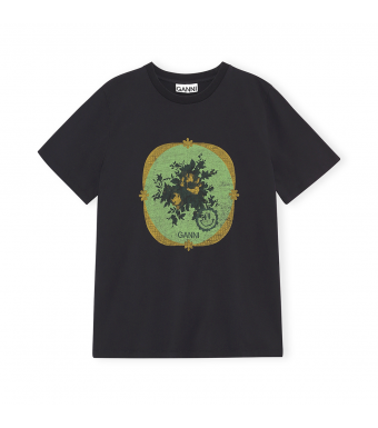 Ganni T2870 T-shirt Basic Cotton Jersey, 252 Phantom