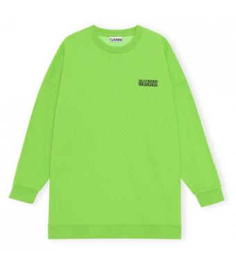 Ganni T2989 Oversized Sweatshirt Software Isoli, 783 Flash Green